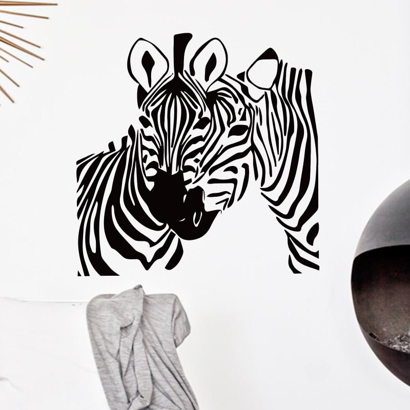 Art Design Cheap Home Decoration Pvc Zebra Wall Sticker Waterproof Vinyl House Decor Animal Horse Decals