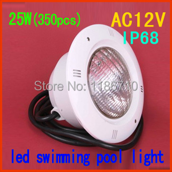 Factory direct sale Single Color 25W embedded led swimming pool light 25W*(350pcs) underwater led pool light
