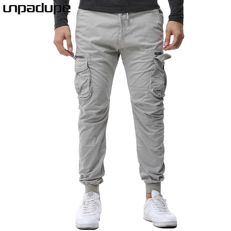 Unpadupe New 2018 Brand Casual Joggers Solid Color Compression Pants Men Cotton Trousers Calabasas Cargo Pants Mens Leggings