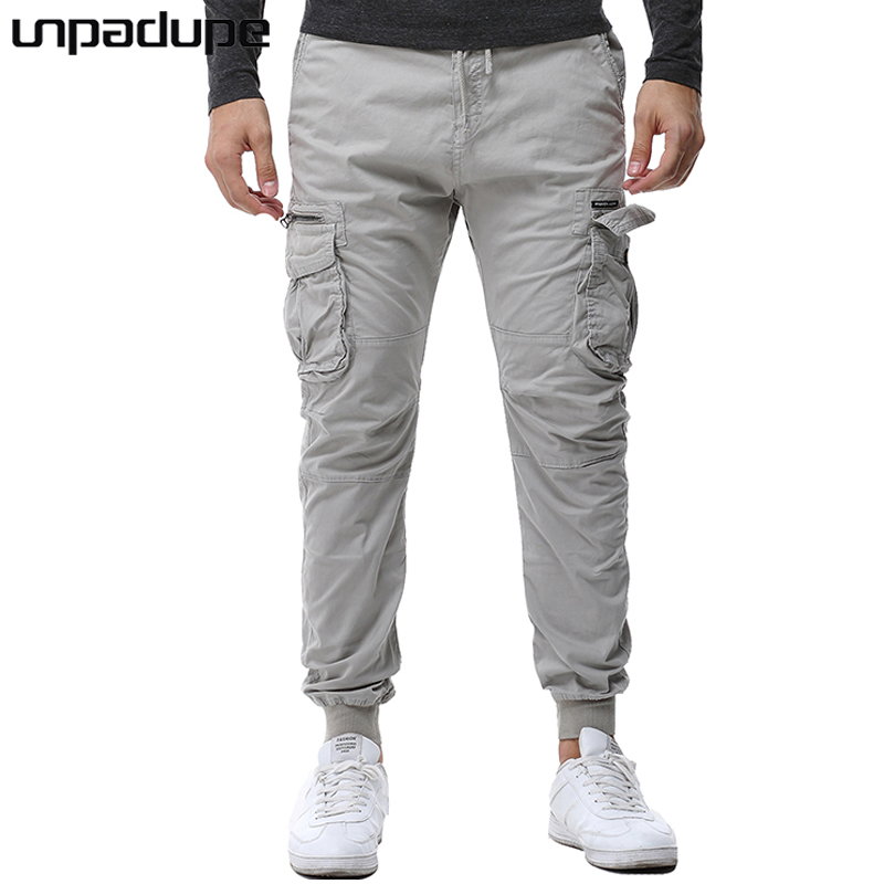Unpadupe New 2018 Brand Casual Joggers Solid Color Compression Pants Men Cotton Trousers Calabasas Cargo Pants Mens Leggings