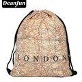 Deanfun 2017 mujeres mochilas impresión bolsa de la mochila feminina harajuku bolso de lazo para hombre mochilas Londo