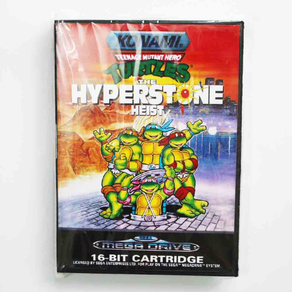 Teenage Mutant Ninja Turtles The Hyper Stone Heist 16 bit MD Game Card With Retail Box For Sega Mega Drive For Genesis