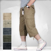 Plus Size Summer Men's Baggy Multi-Pockets Military Zipper Cargo Shorts Hot breeches Male Army Green Men FitnessTactical Shorts zipper fly flap pockets cargo shorts