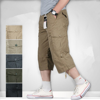 Plus Size Summer Men's Baggy Multi-Pockets Military Zipper Cargo Shorts Hot breeches Male Army Green Men FitnessTactical Shorts цена 2017