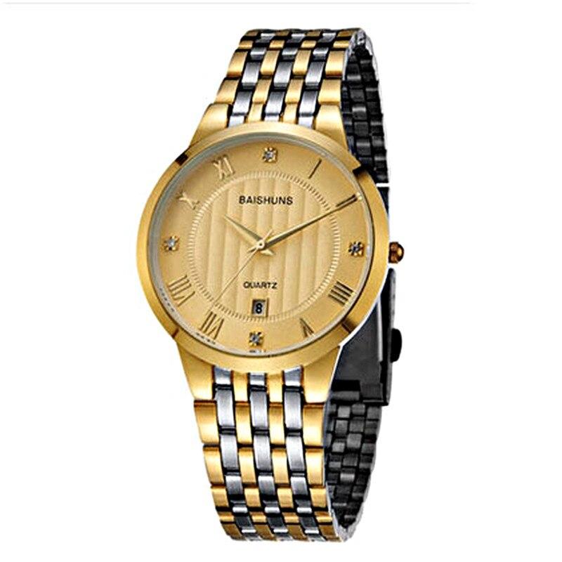 New 2018 Men's Watches Fashion Top Gold Men Watch Modern Watch Luxury Brand Stainless Steel Men Watch Relojes Hombres Clock