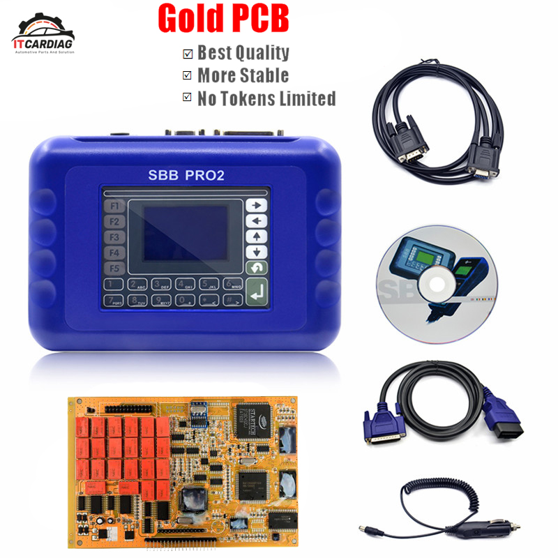 SBB Pro2 V48.88 V48.99 Car Key Programmer Support Car to 2017 Replace SBB 46.02 Gold PCB Multi-Language OBD2 Auto key Programmer