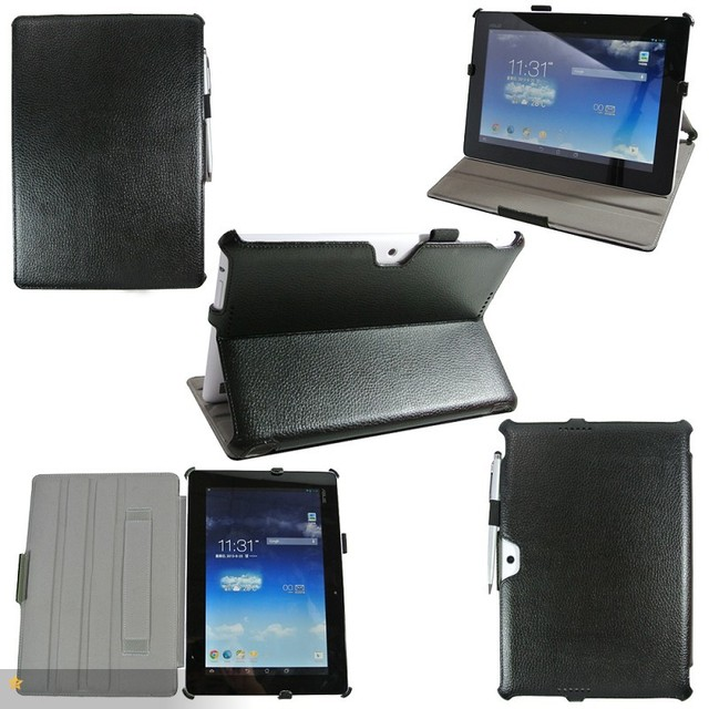 ME302 Hard Leather Cover Case  For Asus Memo pad FHD 10 ME302C ,Gift screen protector+pen
