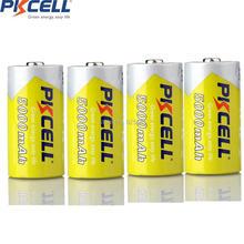4 шт., аккумуляторная батарея PKCELL nimh 1,2 В C, размер 5000 мА · ч, для цифровых камер, CD плееров
