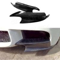 For E92 Front Lip Upper Side Splitters Flaps For BMW 3 Series E90 E92 E93 M3 2008 2014 Carbon Fiber Bumper Protector