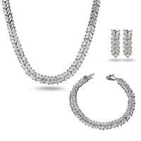 Usine directe protection de l'environnement placage 18 K or bijoux costume flash diamant accessoires en gros Européenne et