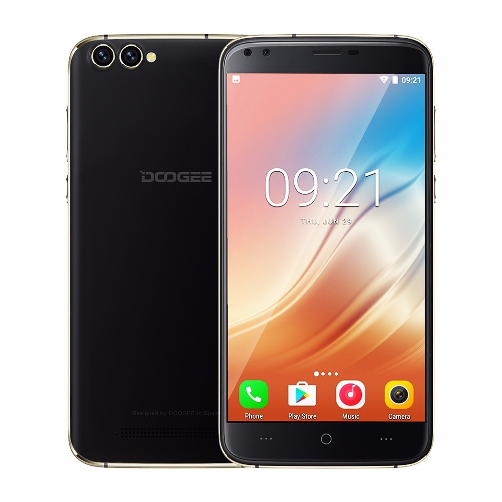 DOOGEE X30 Smartphones MTK6580A Quad Core 2GB+16GB 3360mAh 4 Cameras 3G Android 7.0 Rear 8MP+8MP Cameras 5.5 Inch HD Phones