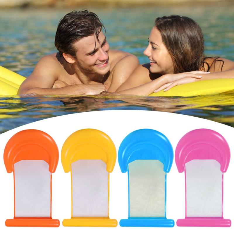 PVC Foldable Floating Bed Chair Water Hammock Lounge Chair Inflatable Float Row Water Sports
