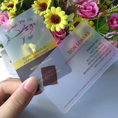 Free Shipping 200pcs/lot  Transparent PVC Business Card Custom  Business Card Printing  Good Quality And Free Design
