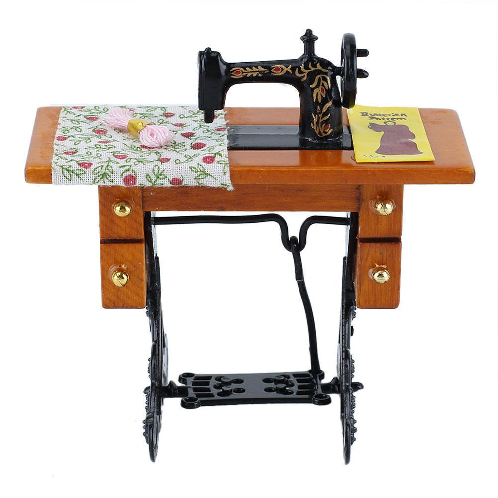Tienda Online Nueva Escala 1 12 Dollhouse Miniatura Muebles  # Muebles Maquina De Coser