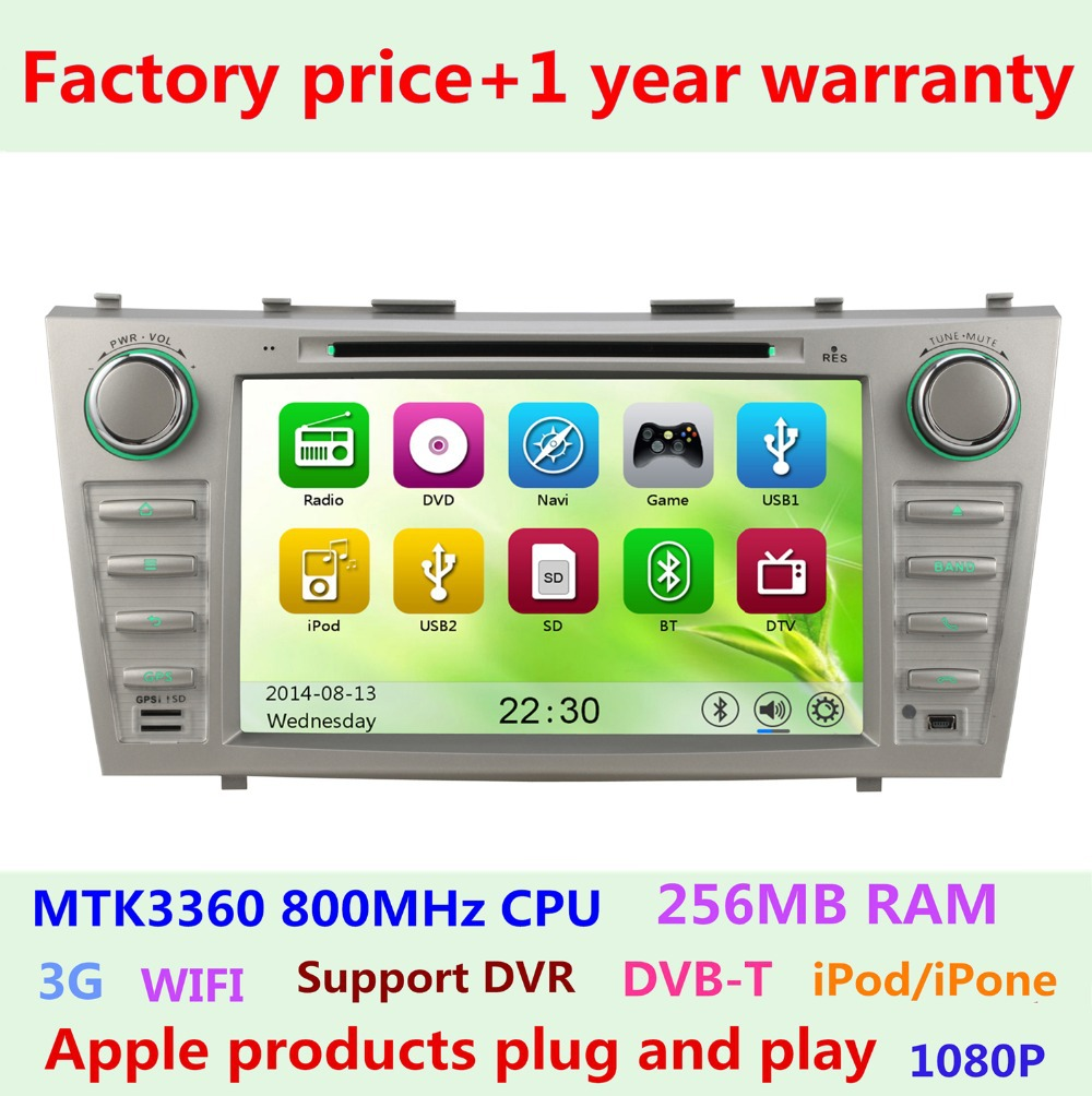 factory price touch screen car dvd player for toyota camry. Black Bedroom Furniture Sets. Home Design Ideas