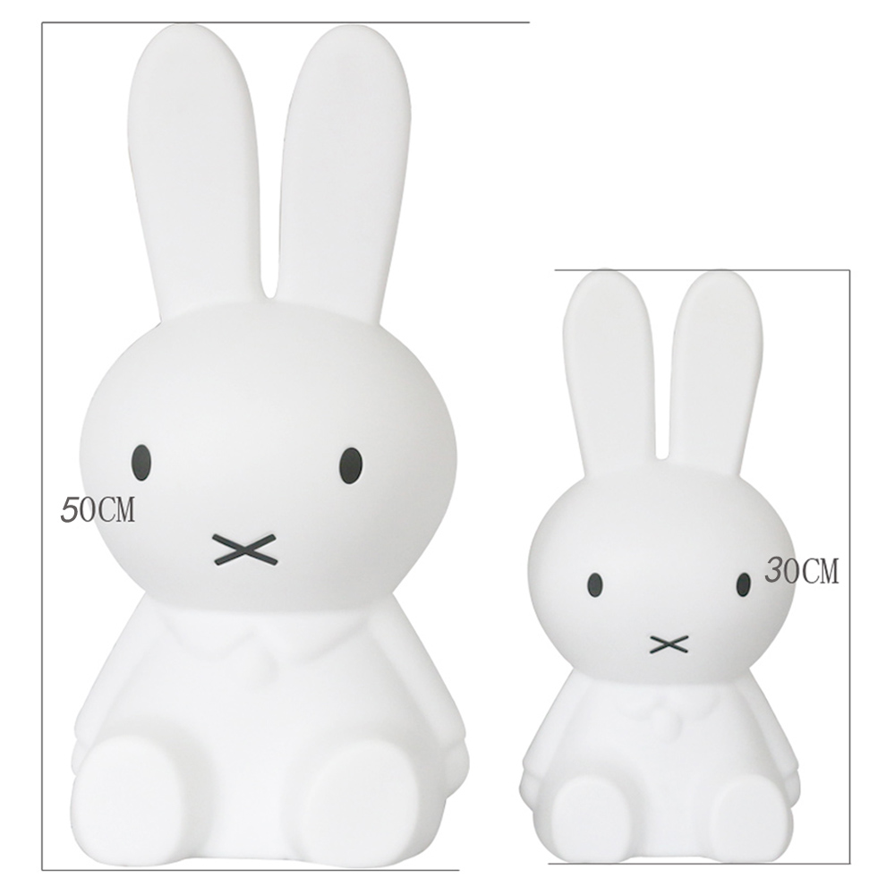 H30/50CM Led Rabbit Night Light EU/USB for Children Baby Kids Gift Animal Cartoon Decorative Lamp Bedside Bedroom Living Room creative cartoon baby cute led act the role ofing boy room bedroom chandeliers children room roof plane light absorption