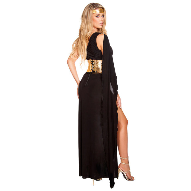 SESERIA Black White Sexy Egyptian Queen Cleopatra Costume Women Halloween Costumes for Adults Long Dress  sc 1 st  Aliexpress & Online Shop SESERIA Black White Sexy Egyptian Queen Cleopatra ...