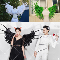 Costumed beautiful feather angel wings for Fashion show Displays wedding shooting props Cosplay game costume