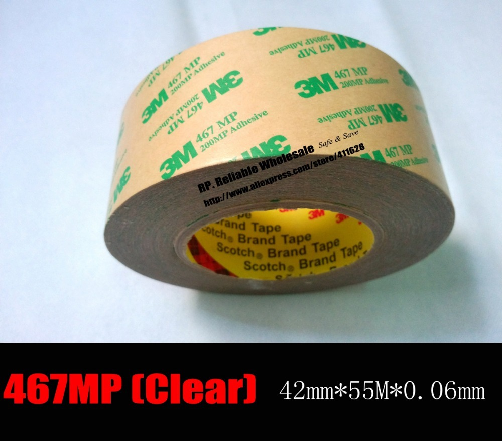 ФОТО 0.06mm ( 2.3 milsThick) 42mm*55M 3M Adhesive Transfer Tape, Lamination Polyester Graphic Overlay Electronics Bond Hi-Temp Resist