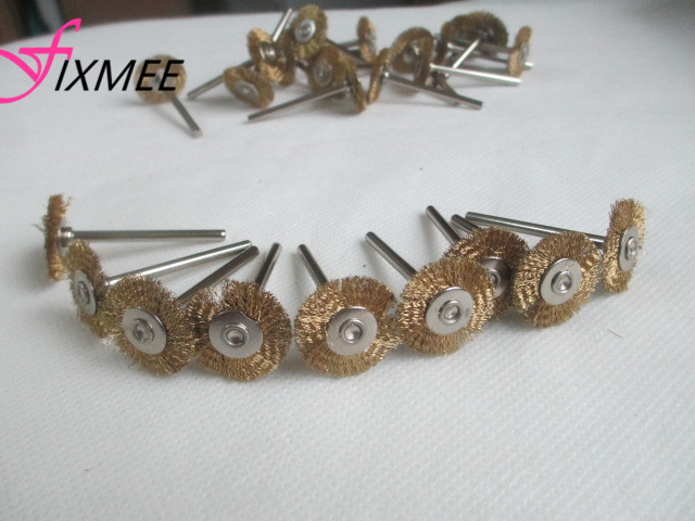 50PCS 22mm Brass Wire Wheel Brushes Polishing Dremel Accessories For Rotary Tools