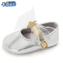 Baby Girl Butterfly-knot Princess shoes Soft bottom crib shoes Newborns Moccasins toddler infant First Walkers 0-18 months