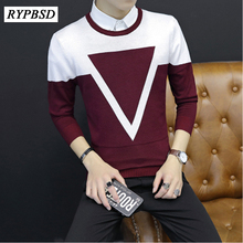 New Fashion Comfortable Casual Sweater Male Warm O-Neck Men Knitted Sweater Patterns Long Sleeve Knitted Pullover Sweater Man