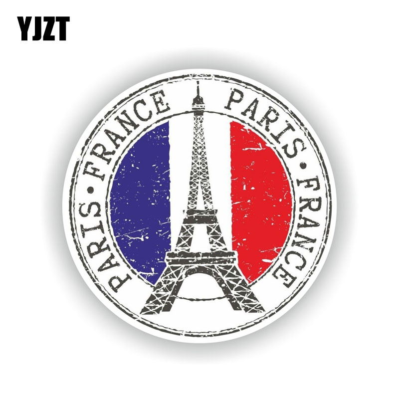 YJZT 12CM*12CM Funny France Paris Car Sticker Car Window Decal Accessories 6-2168