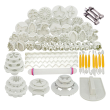 Sugarcraft Cake Decorating Tools Fondant Plunger Cutters Cookie Biscuit Mold Bakeware Accessories GYH