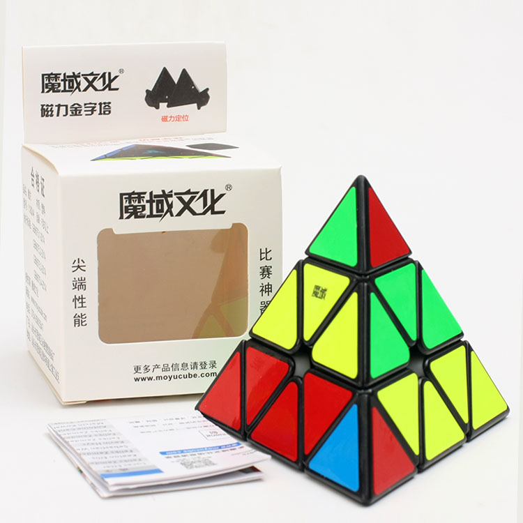 Newest Moyu Magnetic Pyraminx Magic Cube 3x3x3 Speed Cube Professional Triangle Shape Cube Twist Educational Toys