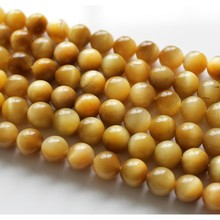 Baihande 4 6 8 10 12mm Natural Round AA Golden Tiger Eye Gemstone Loose Beads For Necklace Bracelet DIY Jewelry Making 15inch