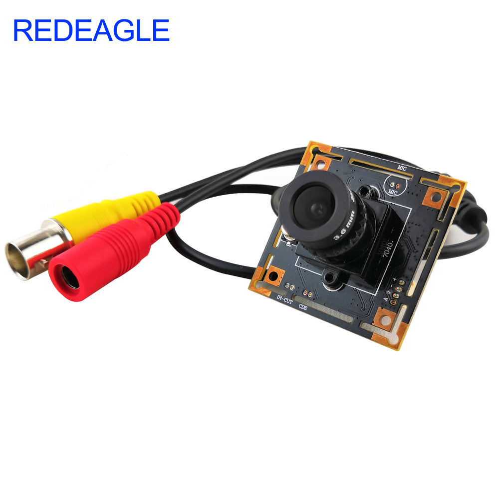 REDEAGLE 700TVL Color CMOS Analog Camera Module CCTV Security Camera With 3.6MM HD Lens