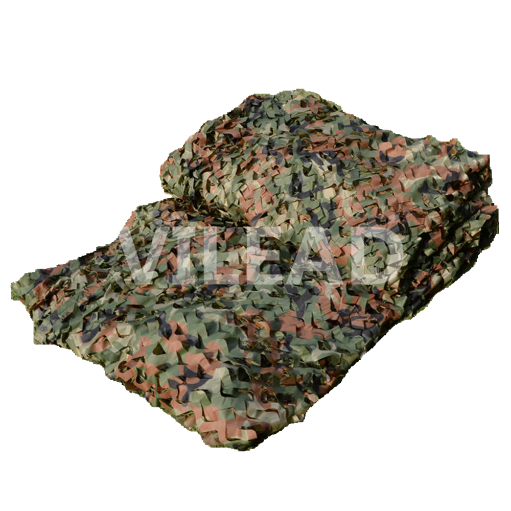 VILEAD 3M*4M New Arrival Top Selling Woodlands Jungle Camouflage Netting Camo Net Camping Military Hunting Photography 4x4m military camouflage camo net paintball outdoor woodlands leaves netting hunting camping holiday party decorations