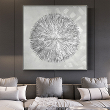 Silvery Acrylic Canvas Painting Nordic Style Modern Abstract Texture Wall Art for Home Decoration