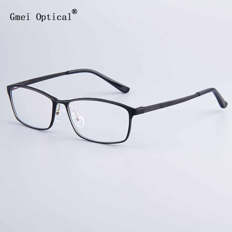 Fashion Brand Designer Business Men Frame Full-Rim Eyeglasses Frames Women Hydronalium Glasses Frames With Spring Hinge On Legs