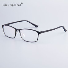 Fashion Brand Designer Zakenlieden Frame Full velg Brillen Frames Vrouwen Hydronalium Brilmonturen Met Lente Scharnier Op Benen