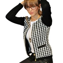New Women Autumn Spring Long Sleeve Jacket Round Neck Short Coat Outwear