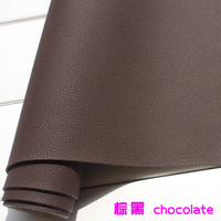 Thick Leather Chocolate PU Leather Faux Leather Fabric Imitation Leather Car Interior Leather Sofa Leather Sold