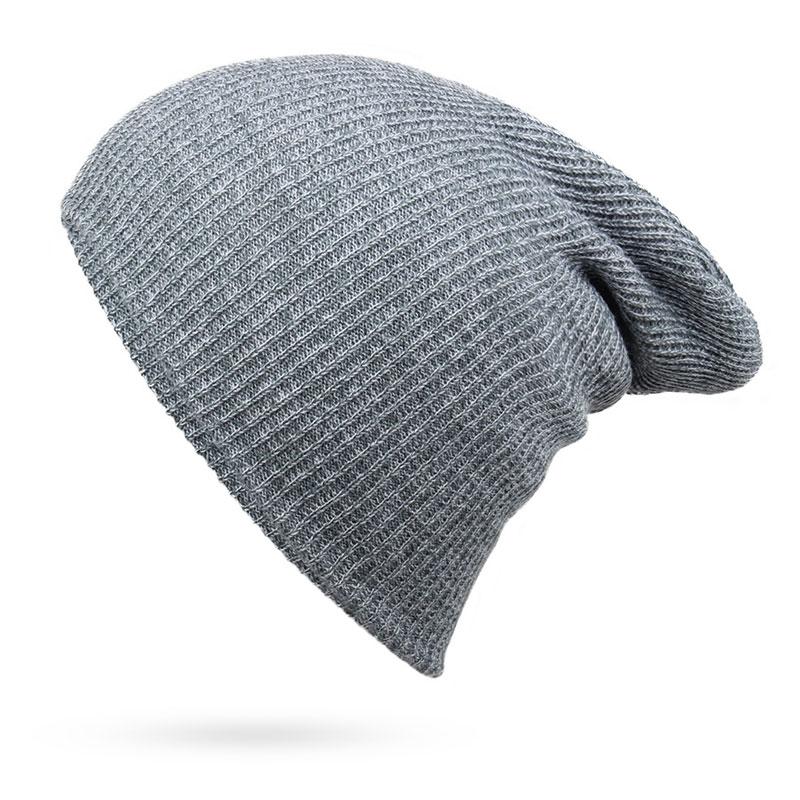 56336f4e21d ... Men s and Women s Winter Hats Knit Beanie Casual Warm Skull Caps Bonnet  Dark Green Navy Black ...
