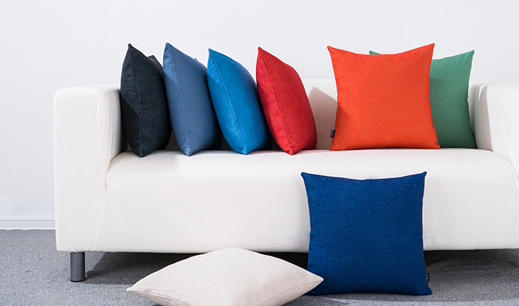 free shipping christmas nordic simple solid color blue red black grey green cushion cover wedding decoration