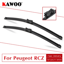 KAWOO For Peugeot RCZ 2626R Car Rubber Windshield Wiper Blades Fit Push Button Arm 2009 2010 2011 2012 2013 2014 2015 2016 bemost car natural rubber wiper blades for peugeot rcz 26 26r 2009 2010 2011 2012 2013 2014 2015 2016 fit push button arms