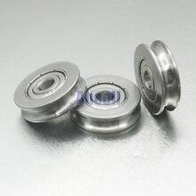 25 мм диаметр U паз нержавеющая сталь 440C мебельный трос ролик H направляющая двери окна бесшумный подшипник U шкив колеса