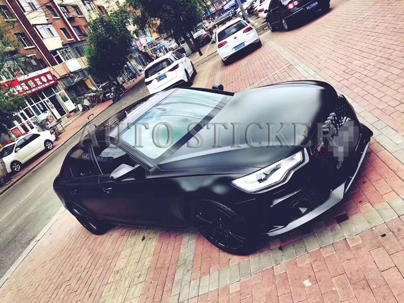 metallic black car vinyl car wraps 55