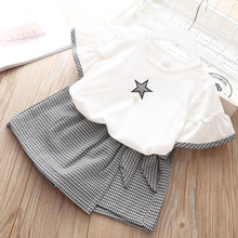 Children Clothing 2019 Summer Toddler Girls Cotton Wear 2pcs Outfits Kids Clothes For Tracksuit Suit Cloths Sets