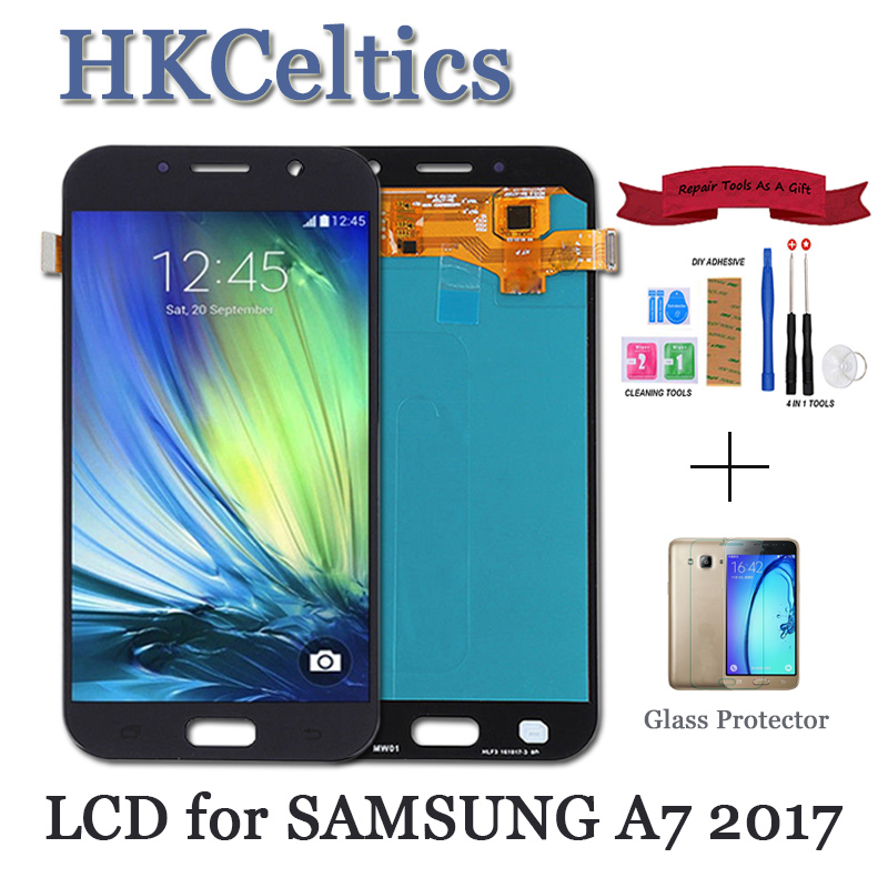 100% Tested 5.7'' Display Replacement For <font><b>Samsung</b></font> Galaxy A7 LCD A720M A720Y <font><b>A720F</b></font> A720FD A720 Touch <font><b>Screen</b></font> Digitizer Assembly image