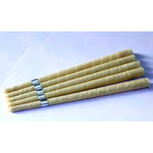 568 pcs=284 pairs,smoke free and CE qualified beewax ear candle,with medical grade organic muslin fabric ear wax candling candle