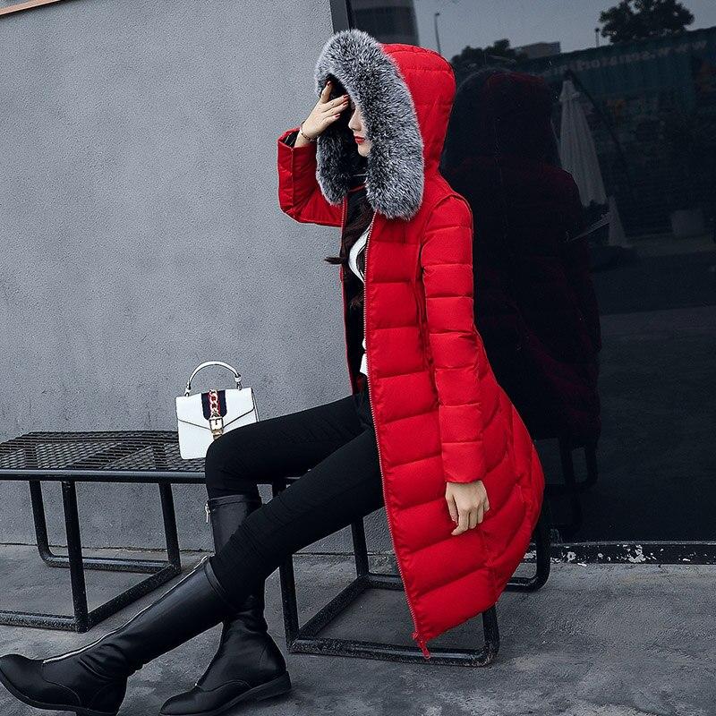 Impression Gris Femme face D'hiver Longue Coton multi Vêtements Mince Épaississement Genou Mode Green army Usure Nouveau 2018 Veste De Deux Manteau Double rouge qw06tFqU