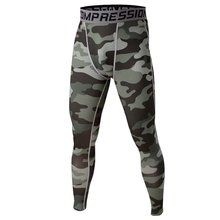 Mens Camo Compression Pants Sports Running Tights Skinny Basketball Running Base Layer Fitness Joggers Leggings Trousers
