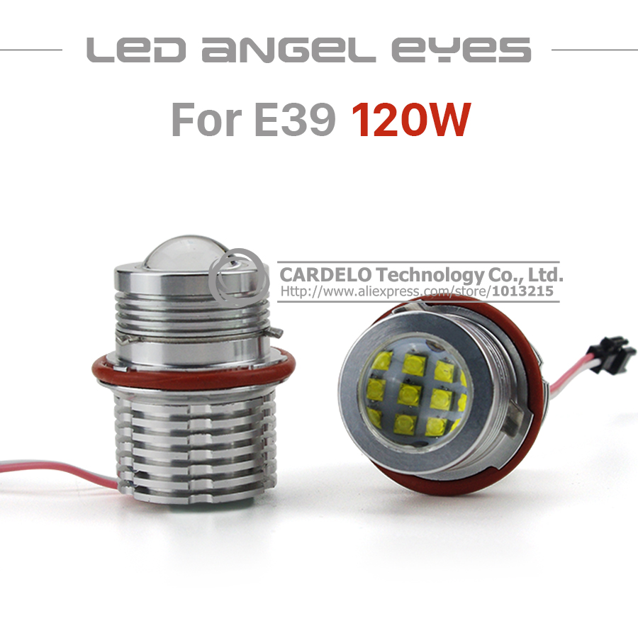 Professional 2 X 60W CREE Chip Angel Eye Halo Ring Marker Light Bulb DRL for BMW