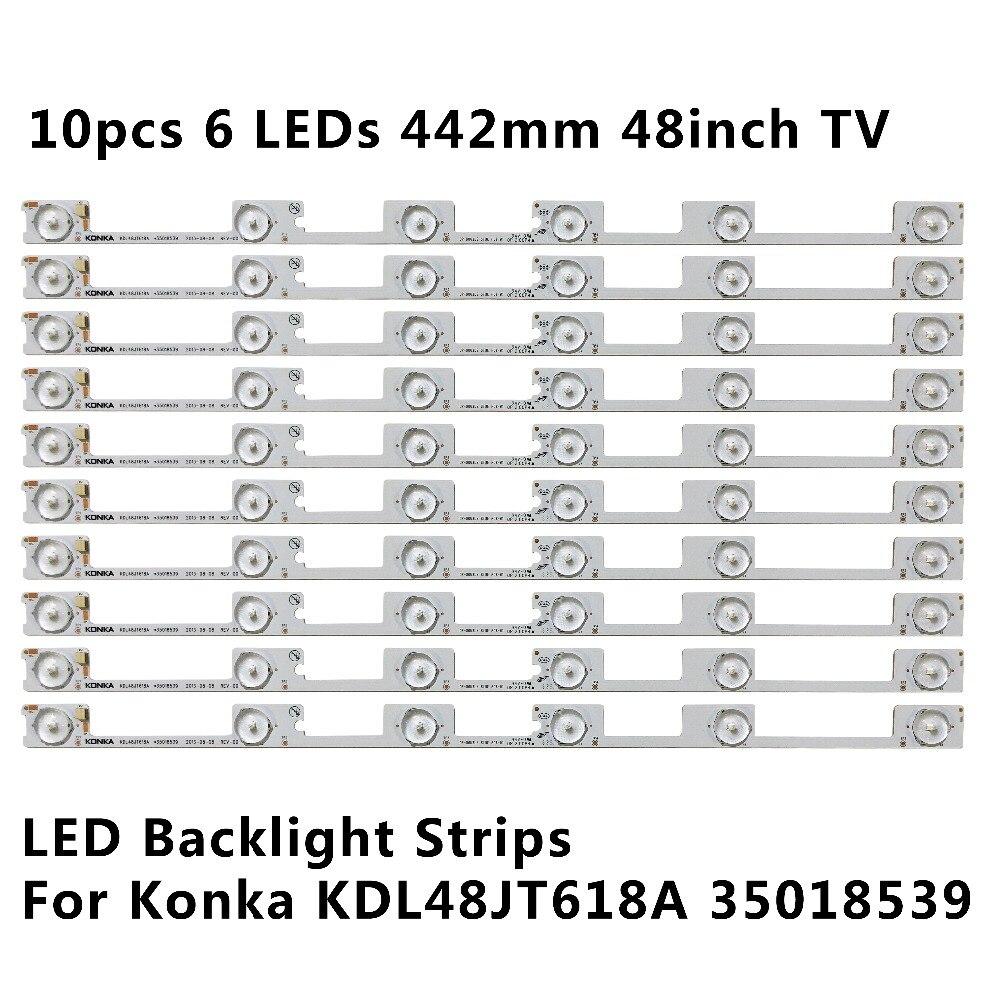 100 Pieces lot original new LED backlight bar strip for KONKA KDL48JT618A KDL48JT618U 35018539 35018540 6