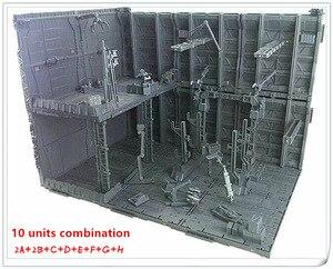 Image 3 - 반다이 건담 프리 콤비네이션 dc010 용 cg 유니버설 격납고 차고 프론트 라인베이스 장면